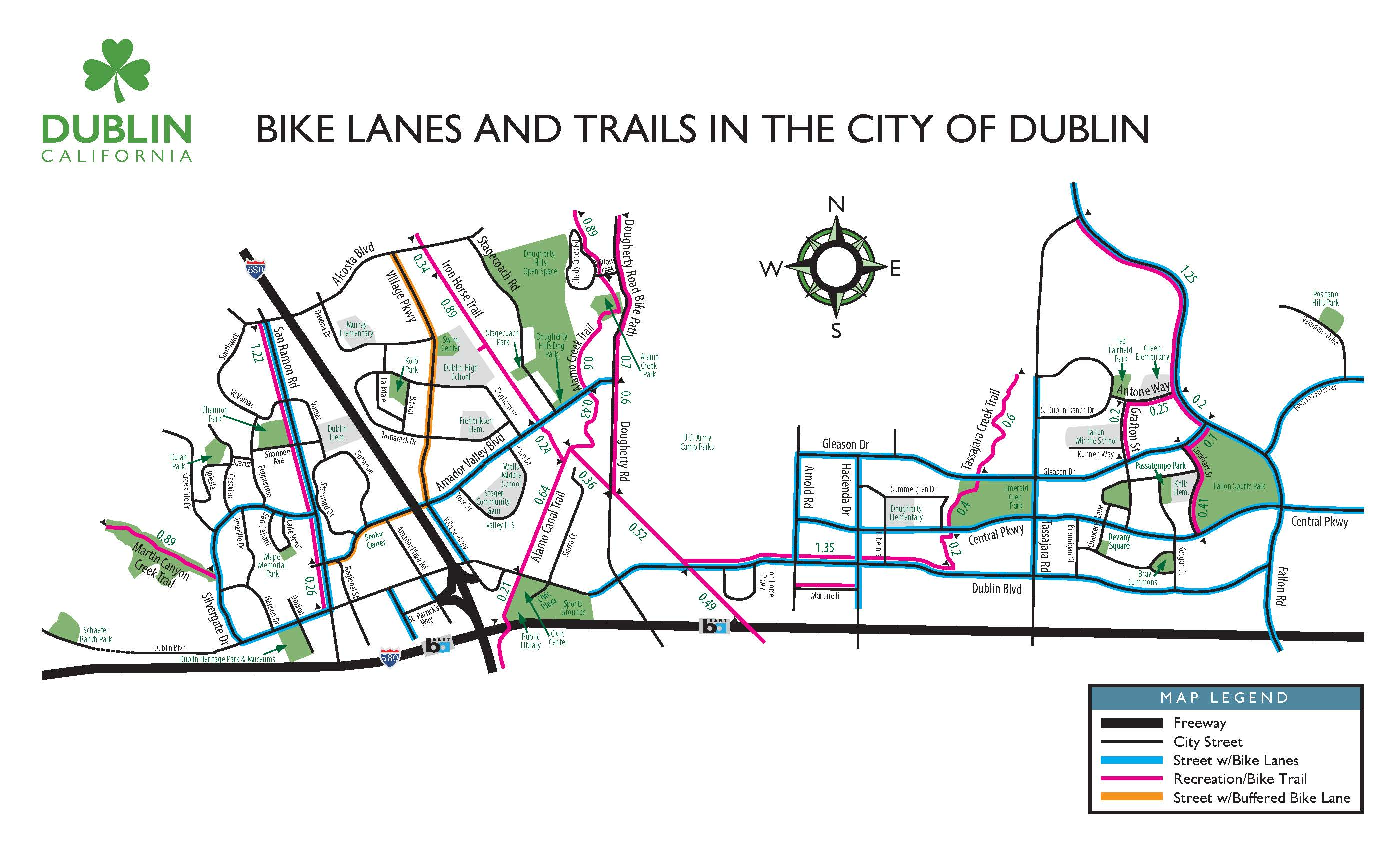 Dublin Bike Trails Map 041416