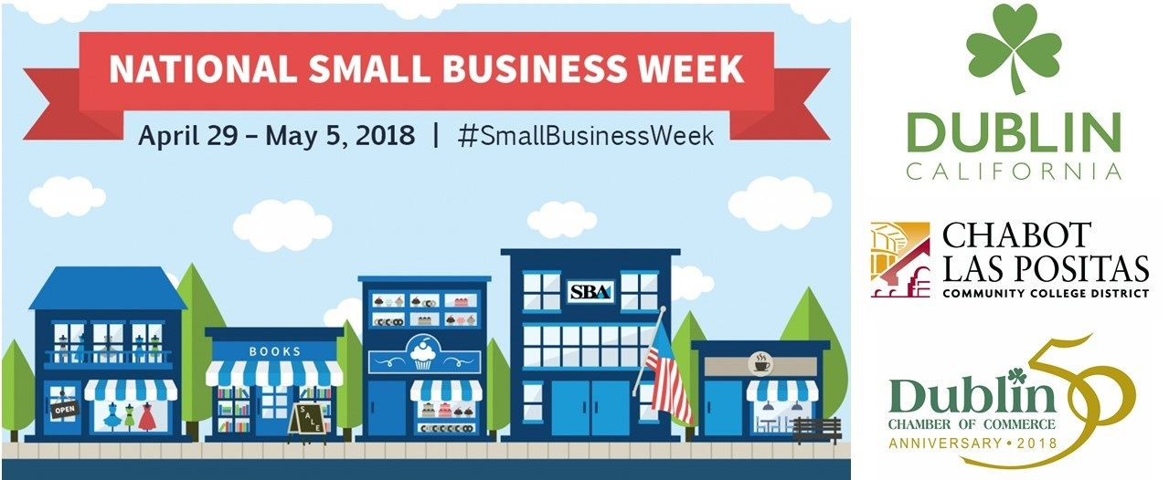 2018 Small Business Week graphic with event sponsor logos