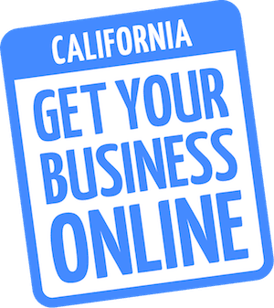 Get your business online California logo