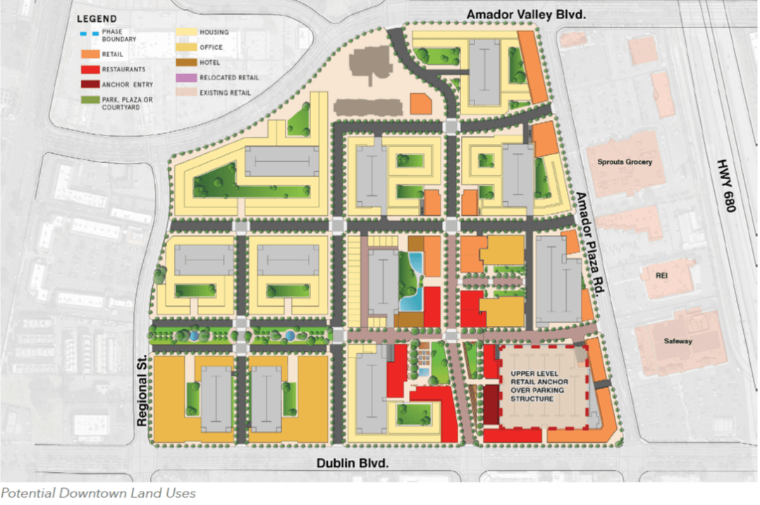 Adopted Downtown Dublin Preferred Vision - Illustrated Plan