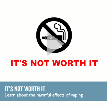 "Vaping graphic - ""It's Not Worth It"""