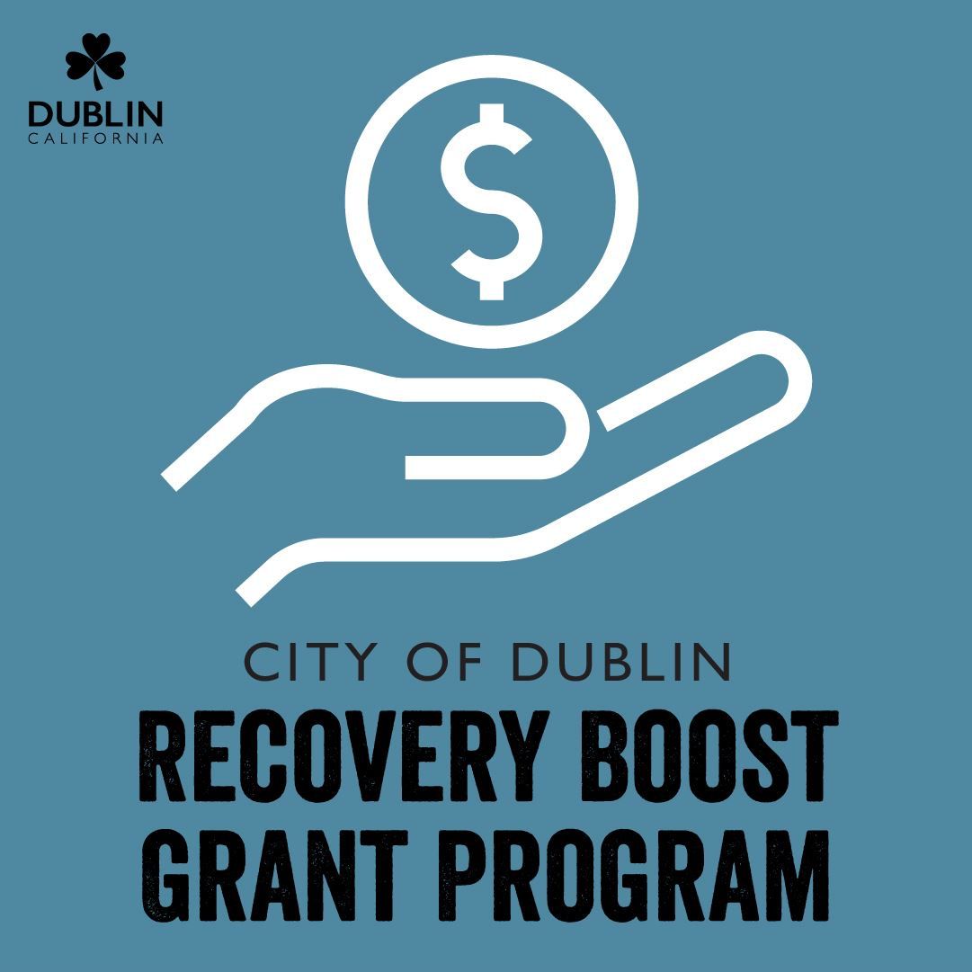 Recovery Boost Grant Program logo - hand under coin