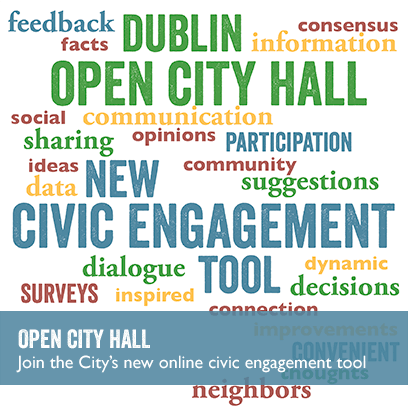 Word cloud photo for the Open City Hall civic engagement tool